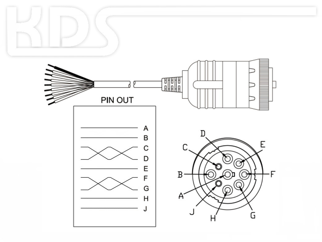 Obd Cable Sae J1939  U0026 39 Cut Off U0026 39  C    2 0m Hiq