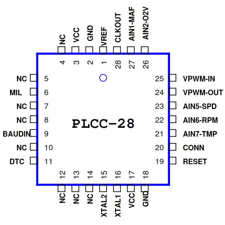 OBD2-Simulator-IC OE91C1310 for J1850 VPWM
