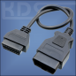 Preview: OBD-2 Cable-Extension G / 0.38m - (J1962 M->F)