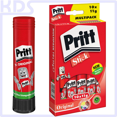 Pritt Glue Stick WA11 11g - Multipack with 10 pieces