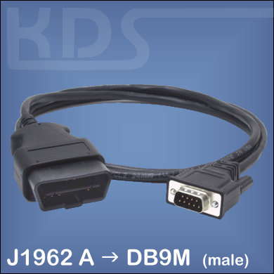 OBD-2 Cable-Connection C - (J1962M to DB9M)