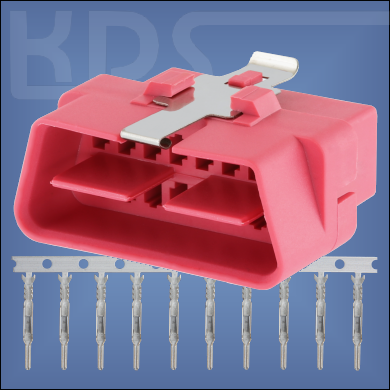 OBD-2 Connector 17-2 - (J1962 Typ B, 24V male)