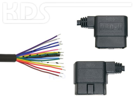 OBD-2 Cable 'cut off' G / 1.8m - HiQ (J1962M Typ B -> open end)