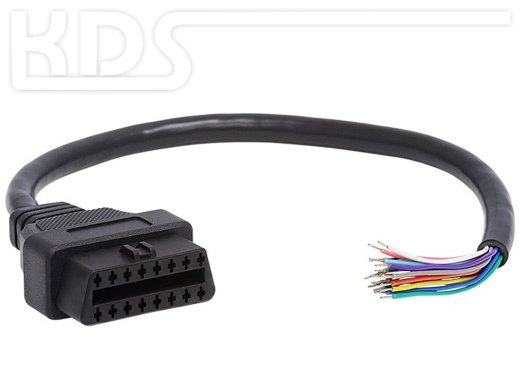 OBD-2 Cable 'cut off' F / 0.3m - HiQ (J1962F -> open end) - (Female)