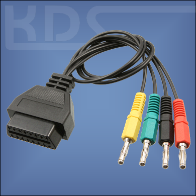 OBD Adapter Cable universal - 4x banana plugs to OBD2 16pin (KTS)