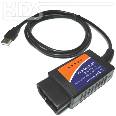 AutoDia E327 OBD2 Diagnostic Interface for ELM327 Software (USB)
