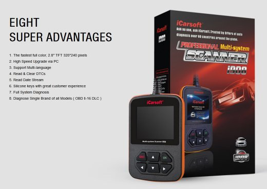 iCarsoft i908 for VAG (VW, Audi, Skoda, Seat) - OBD Diagnostic Tool