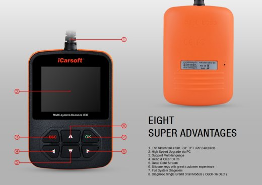 iCarsoft i930 for Landrover / Jaguar - OBD Diagnostic Tool