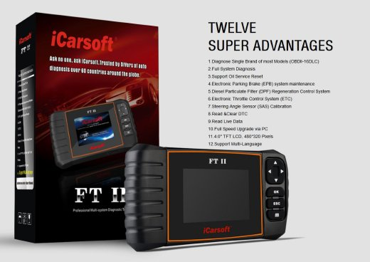 iCarsoft FT II for Fiat and Alfa Romeo