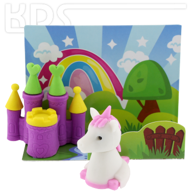Eraser 'Unicorn with Castle'  -  Trendhaus 946133, V2