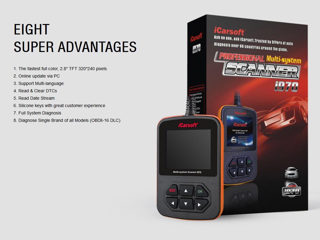 iCarsoft i970 Für Peugeot Citroen Scanner Berlingo ELYSEE QUATRE TRIOMPHE JUMPER