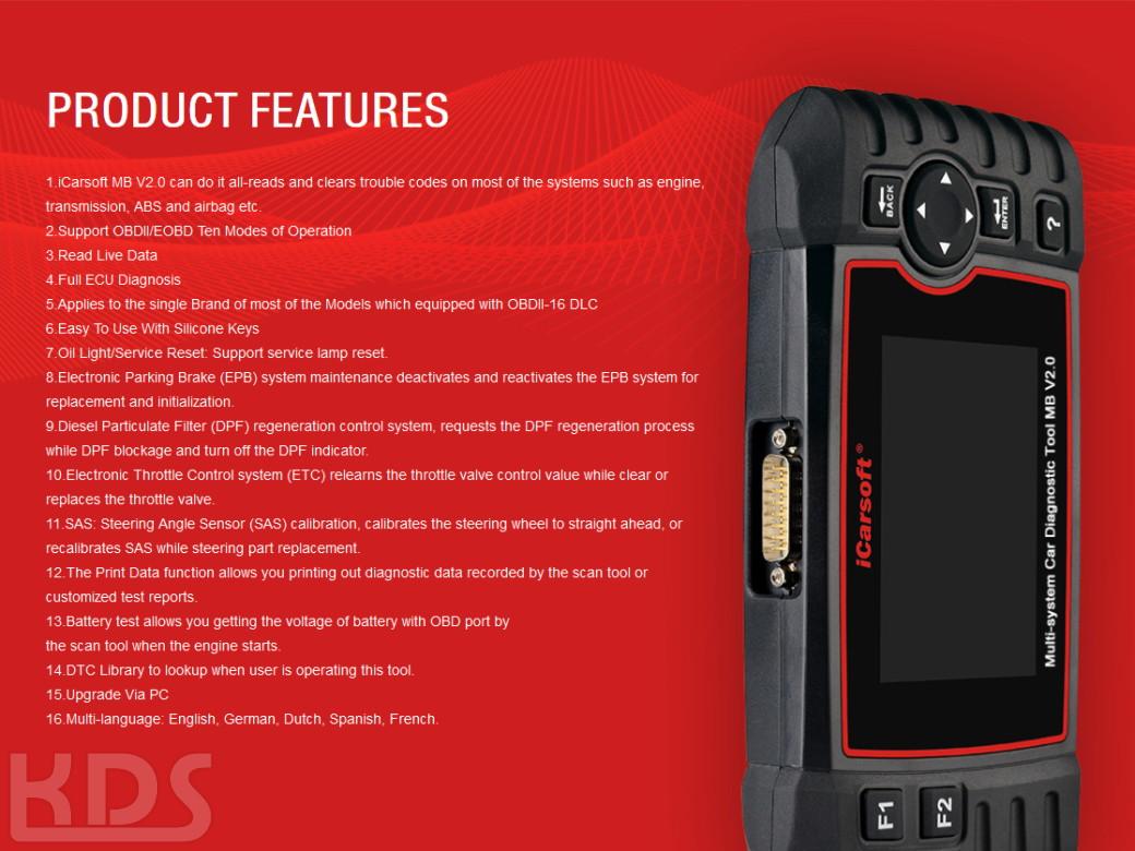 icarsoft mb v2 0 f r mercedes smart sprinter kds onlineshop. Black Bedroom Furniture Sets. Home Design Ideas