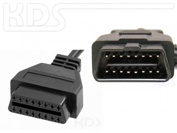 OBD-2 Cable-Extension G / 0.38m - (J1962 M->F)
