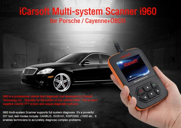 iCarsoft i960 for Porsche - OBD Diagnostic Tool