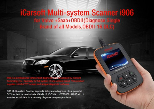 iCarsoft i906 for Volvo / Saab - OBD Diagnostic Tool