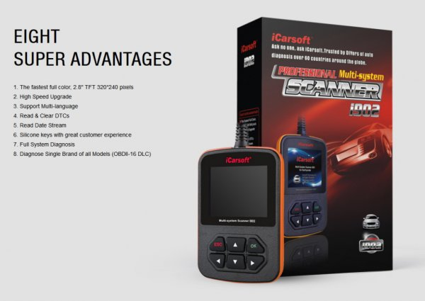 iCarsoft i902 for Opel - OBD Diagnostic Tool