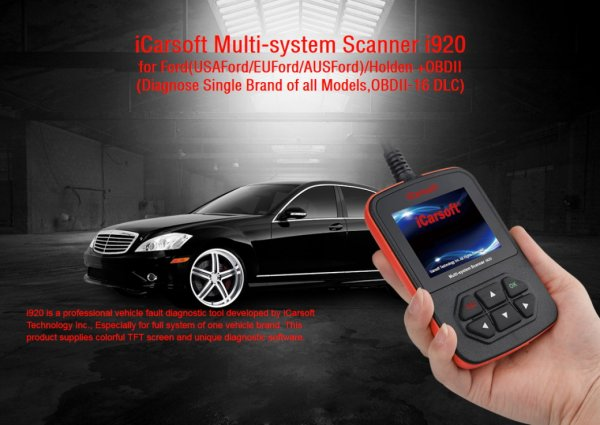 iCarsoft i920 for Ford / Holden - OBD Diagnostic Tool