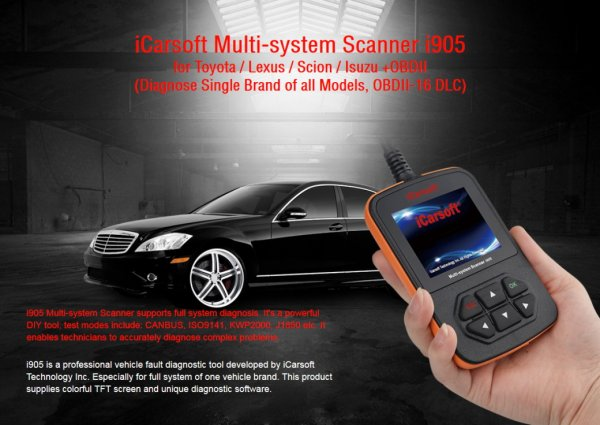 iCarsoft i905 for Toyota / Lexus - OBD Diagnostic Tool