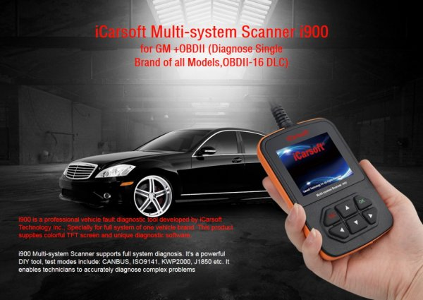 iCarsoft i900 for GM - OBD Diagnostic Tool