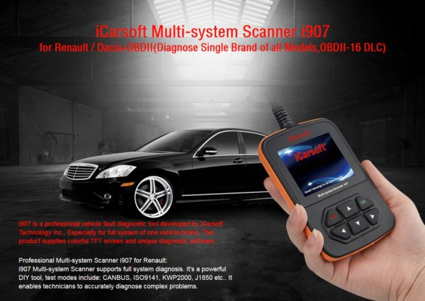 iCarsoft i907 for Renault / Dacia - OBD Diagnostic Tool