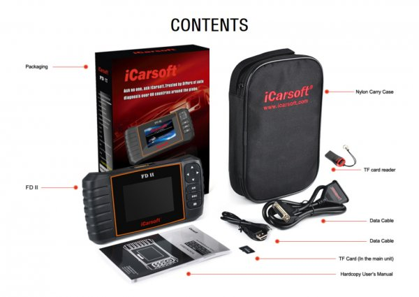 iCarsoft FD II for Ford and Holden