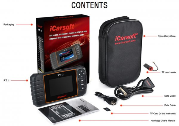 iCarsoft RT II for Renault / Dacia