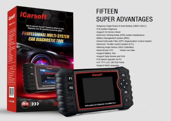 iCarsoft BMM V2.0 for BMW and MINI - Diagnostic Tool