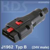 OBD-2 Connector 25-D - (J1962 Type B, 24V male)