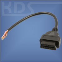 OBD-2 Cable 'cut off' H / 0.3m - (J1962F -> open end) - (Female)