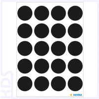 Herma Colour Dots, Ø 19mm, round, black