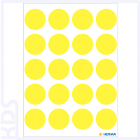 Herma Colour Dots, Ø 19mm, round, luminous yellow